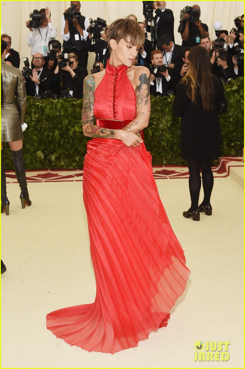 Ruby Rose Shows Off Her Tattoos At Met Gala 2018 Photo 4078995 2018 Met Gala Met Gala Ruby Rose Pictures Just Jared