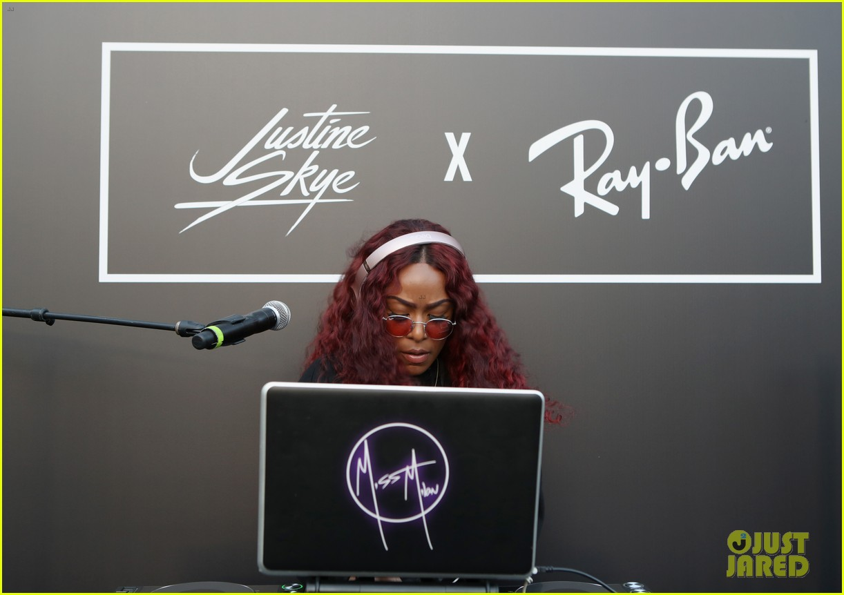 justine skye ray ban event 014085799