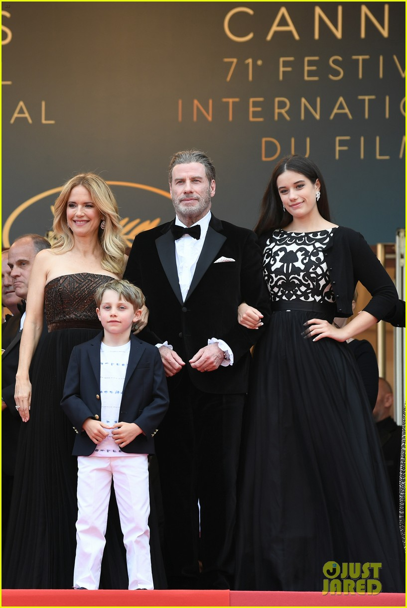 john travolta kelly preston their children hit red carpet at solo a star wars story cannes 014083395