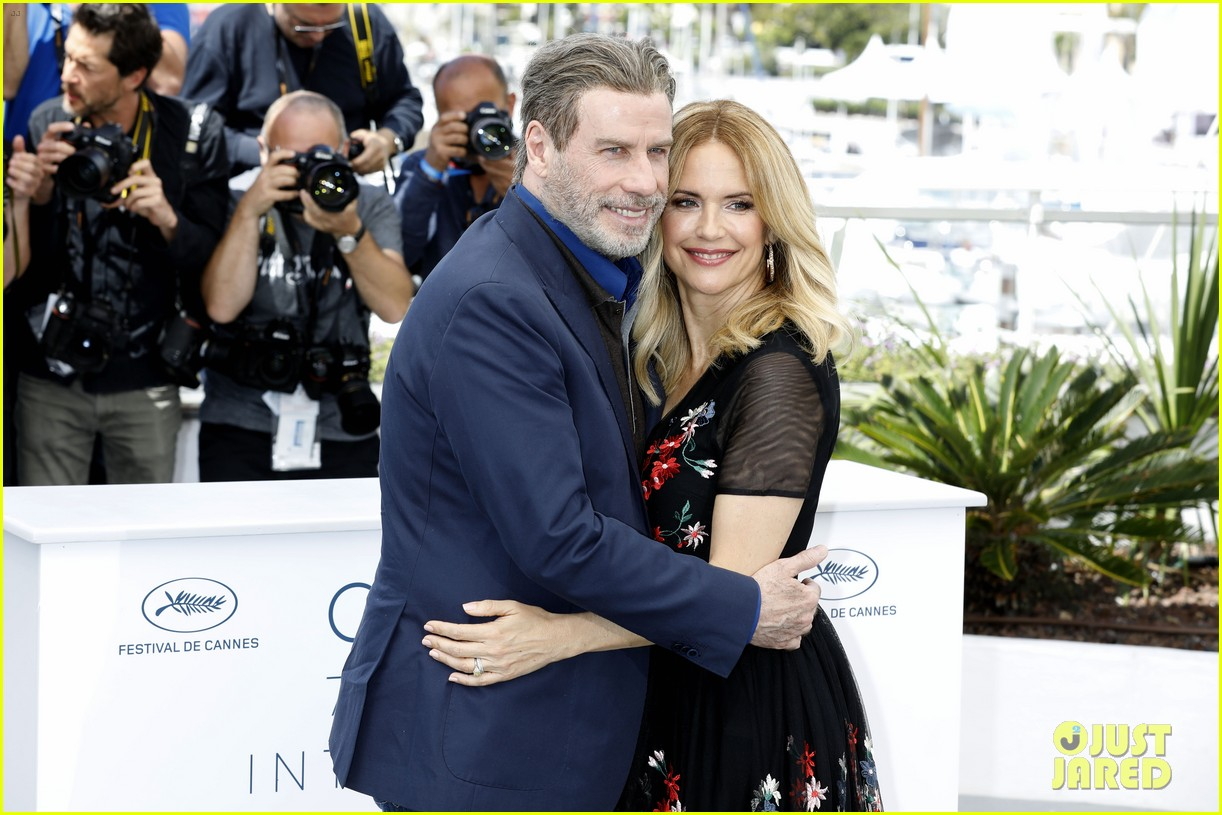 john travolta kelly preston their children hit red carpet at solo a star wars story cannes 044083398