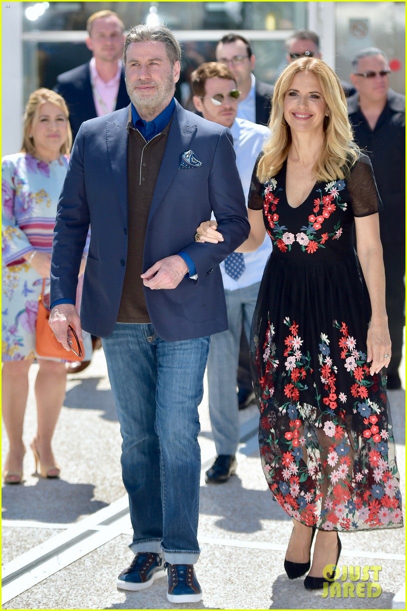 john travolta kelly preston their children hit red carpet at solo a star wars story cannes 084083402