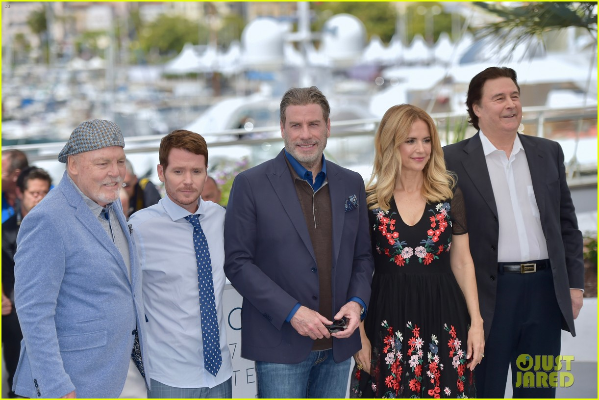 john travolta kelly preston their children hit red carpet at solo a star wars story cannes 094083403