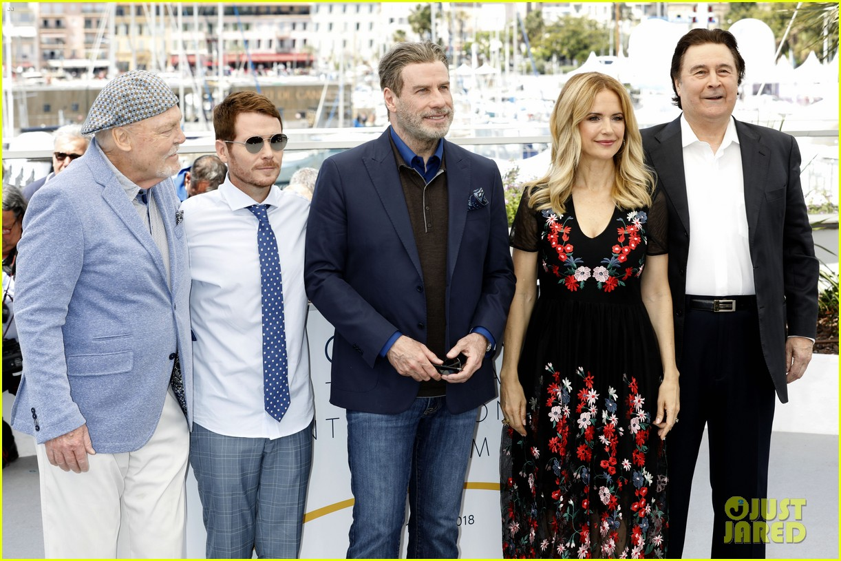 john travolta kelly preston their children hit red carpet at solo a star wars story cannes 104083404