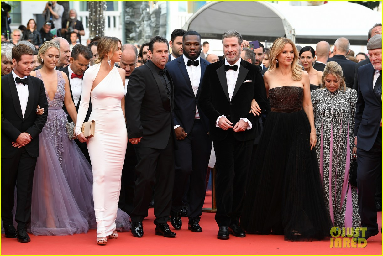 john travolta kelly preston their children hit red carpet at solo a star wars story cannes 214083415