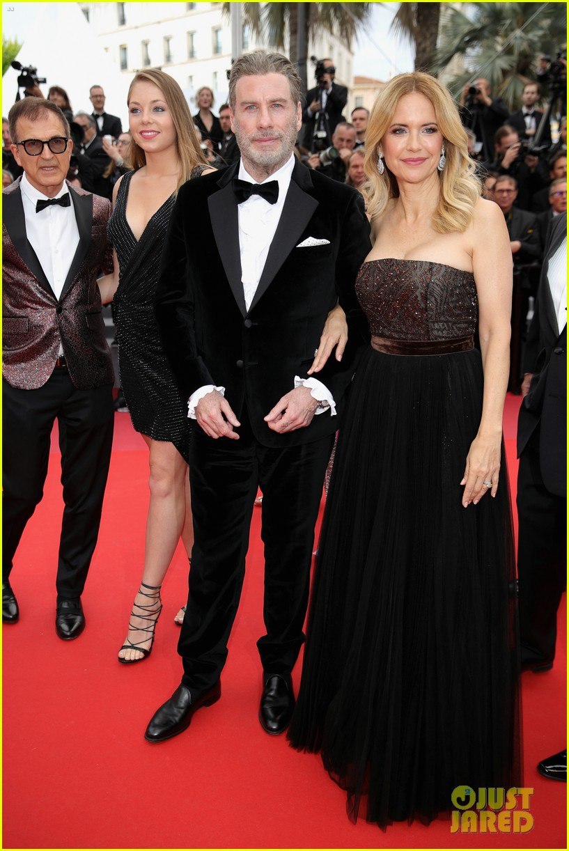 john travolta kelly preston their children hit red carpet at solo a star wars story cannes 244083418