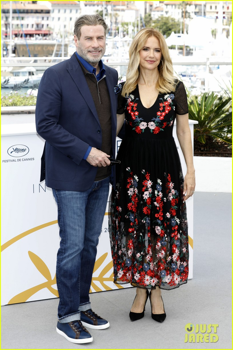 john travolta kelly preston their children hit red carpet at solo a star wars story cannes 264083420