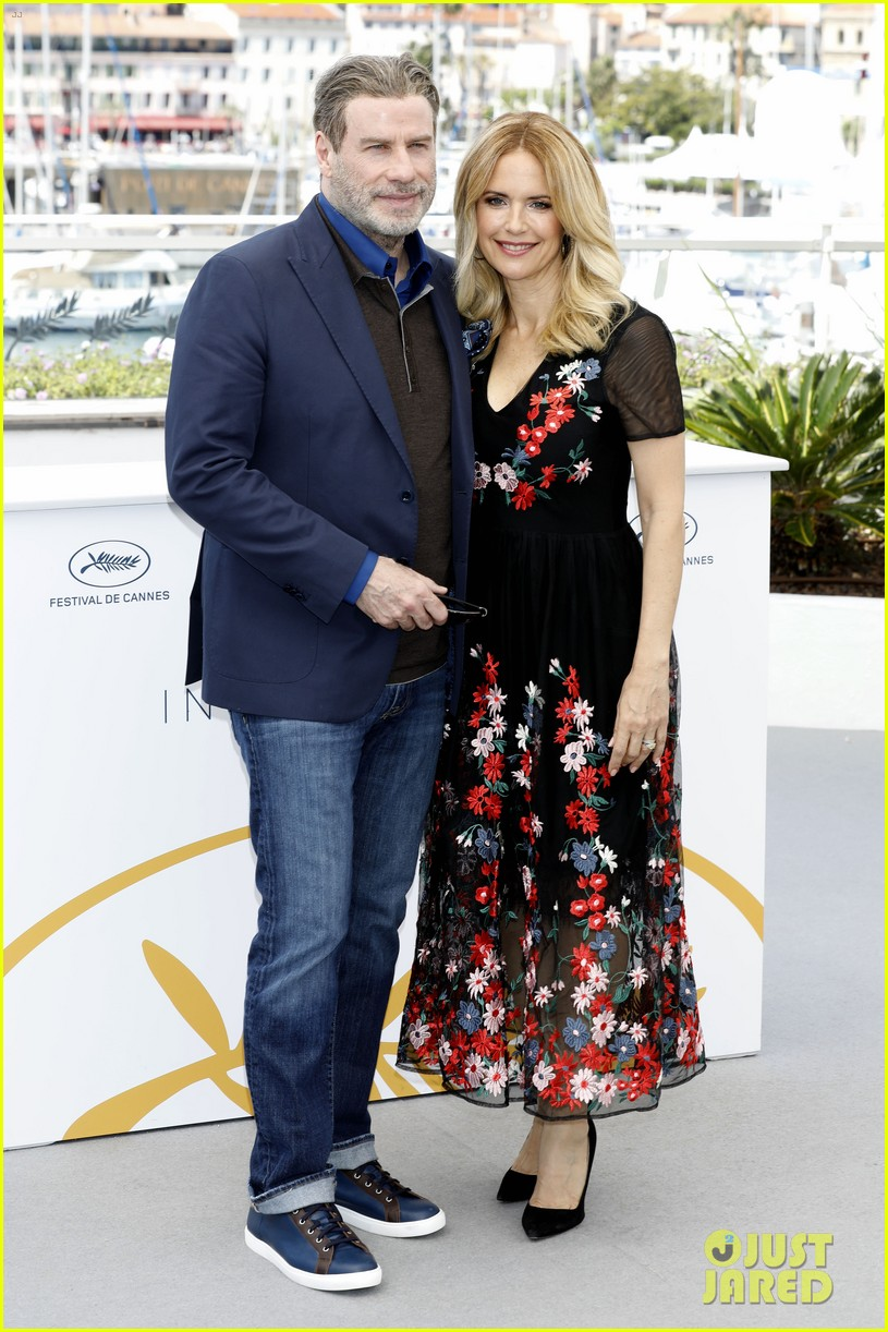 john travolta kelly preston their children hit red carpet at solo a star wars story cannes 274083421