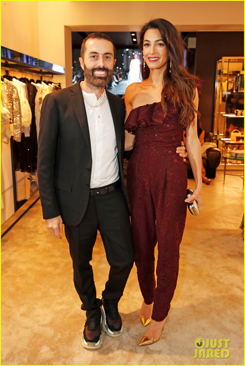 amal clooney steps out to support giambattista valli at london store opening 014102199