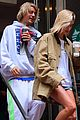 justin bieber hailey baldwin get silly during starbucks run 09
