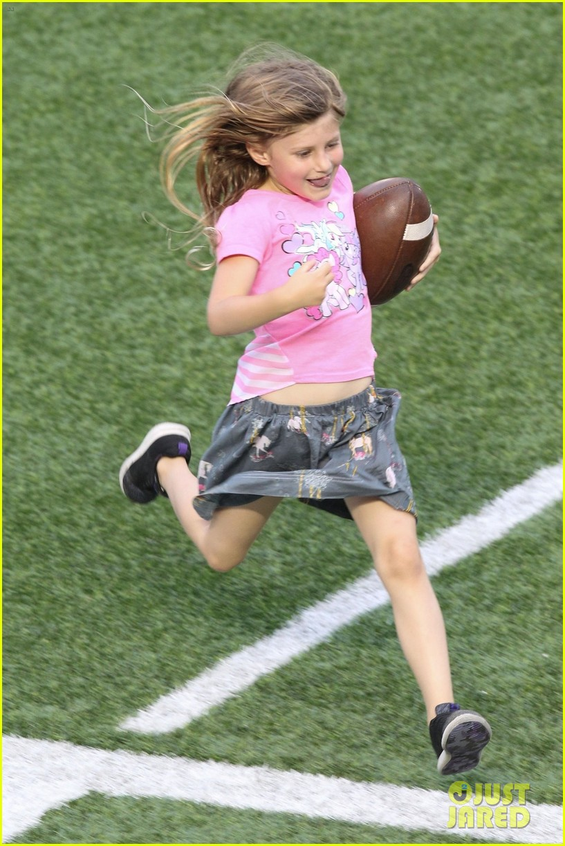 tom brady plays football with his kids best buddies 444094225