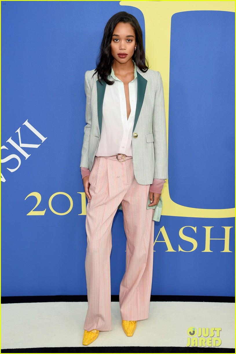nina dobrev and laura harrier show off their styles at cfda awards 2018 024095226