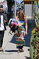 hilary duff dresses her baby bump in colorful dress 09