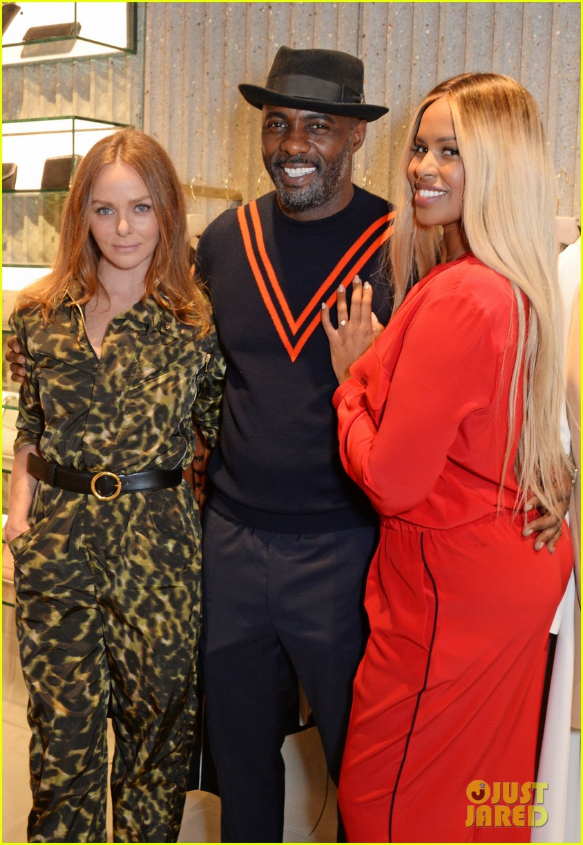 idris elba fiancee sabrina dhowre couple up for stella mccartney store opening 044100785