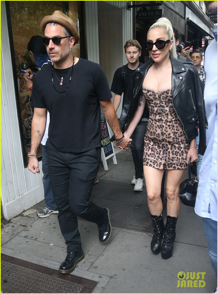 lady gaga holds hands with boyfriend christian carino in nyc 104108648