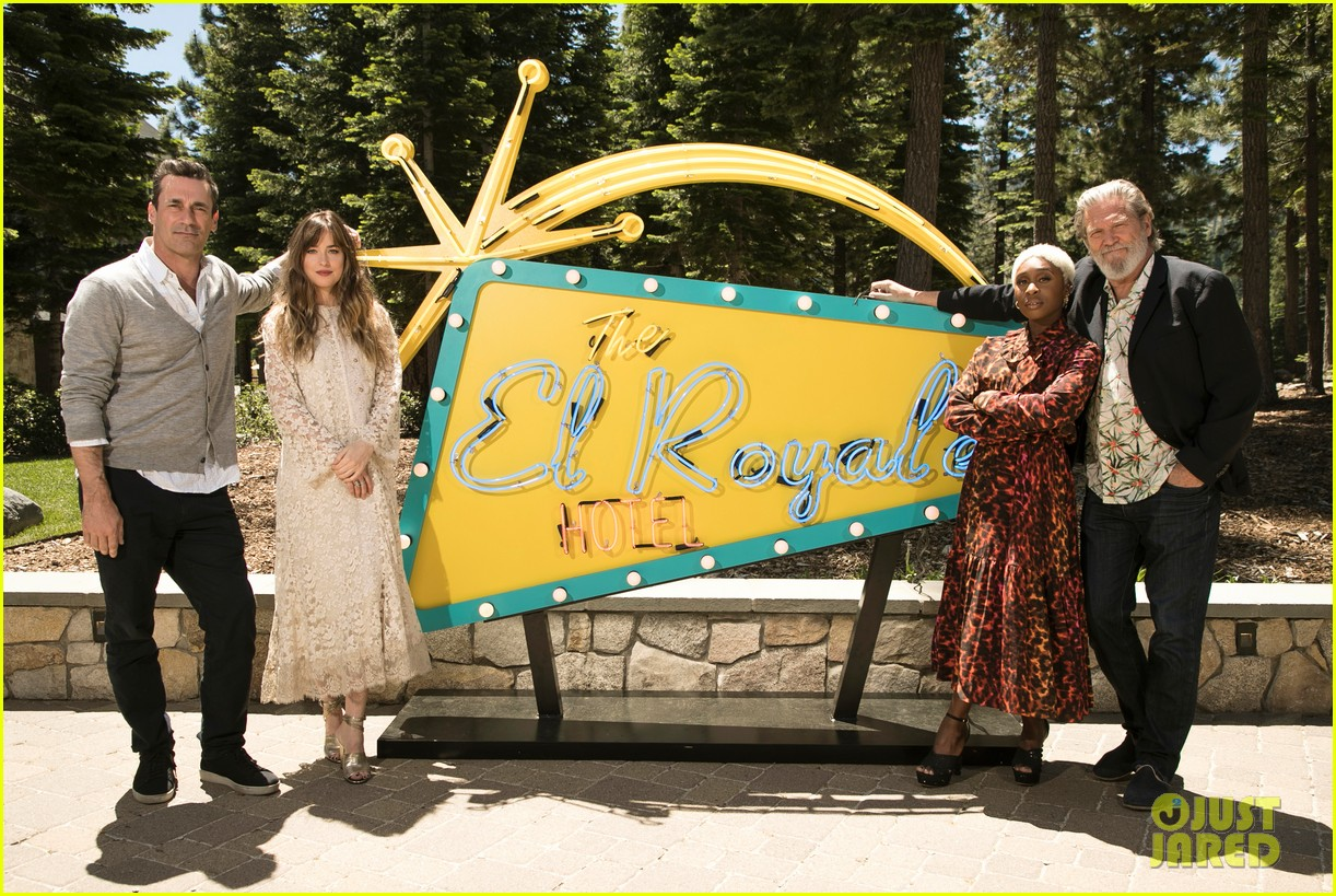 dakota johnson joins el royale cast at lake tahoe event 044109326