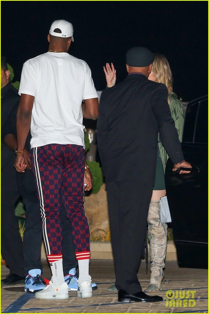 khloe kardashian tristan thompson rare appearance out together 034104126