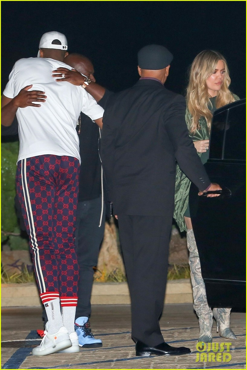 khloe kardashian tristan thompson rare appearance out together 064104129