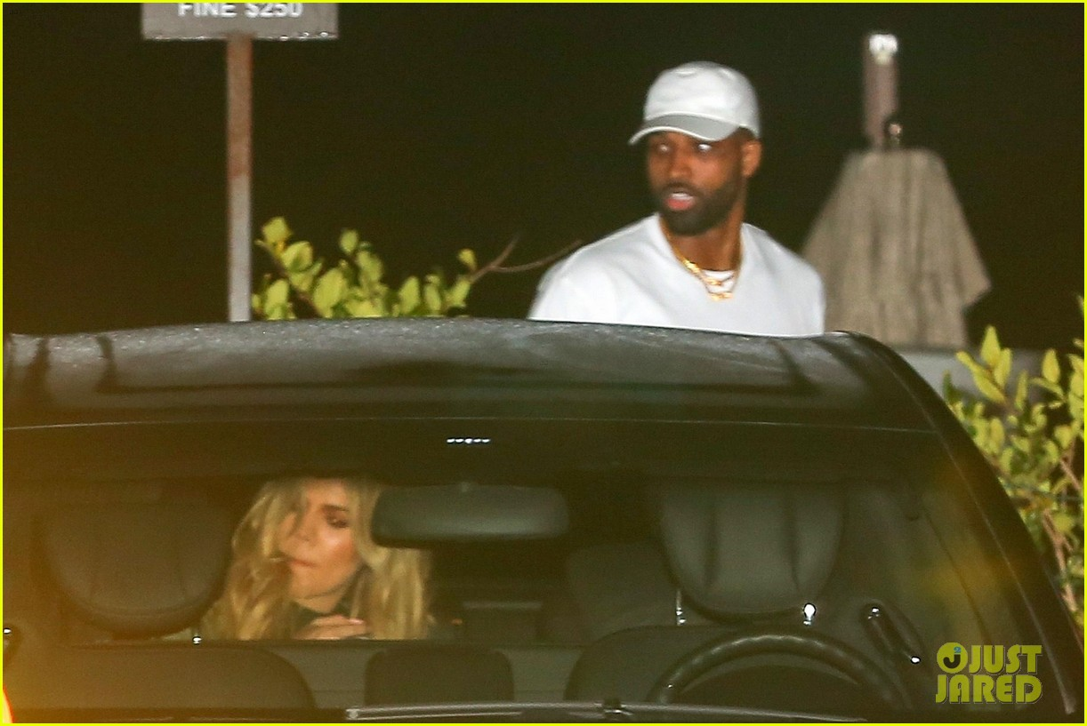 khloe kardashian tristan thompson rare appearance out together 104104133