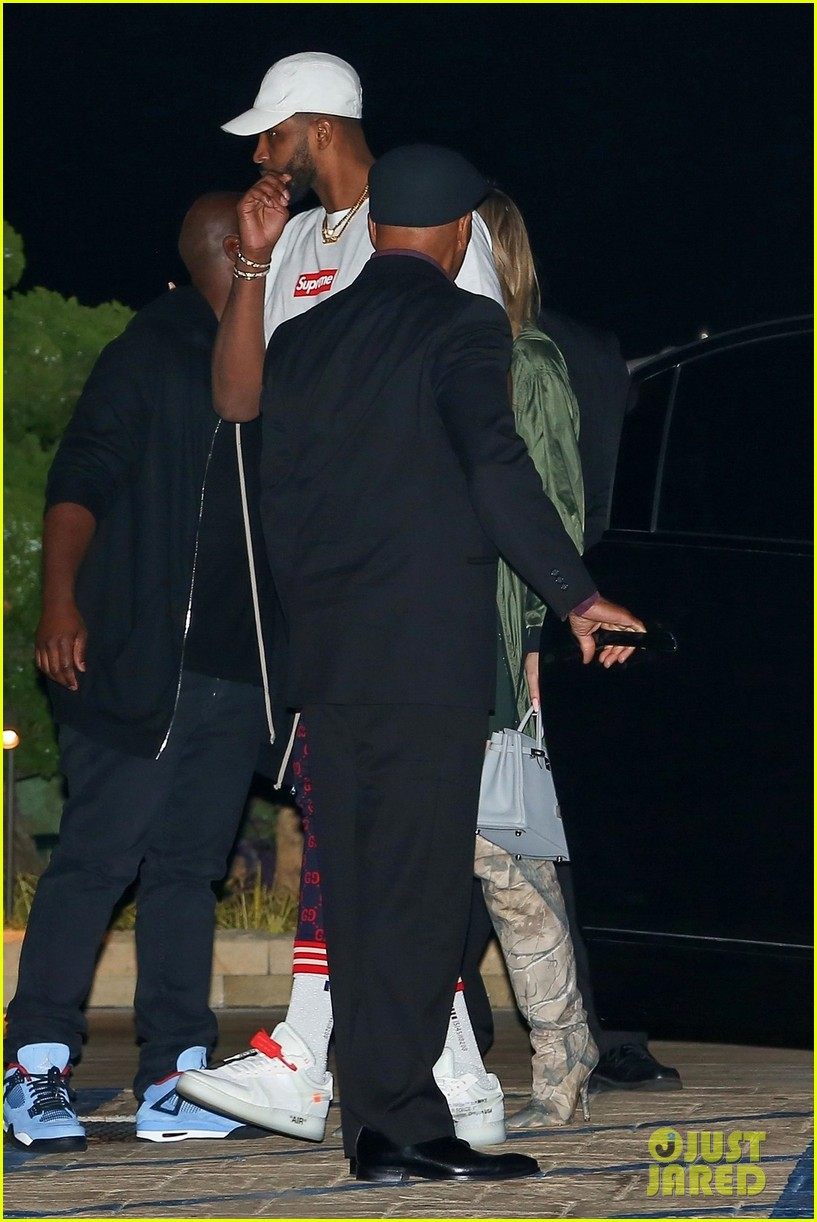 khloe kardashian tristan thompson rare appearance out together 144104137