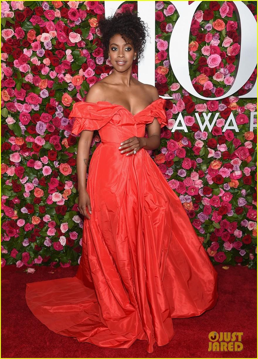 lauren ridloff condola rashad go glam in red for tony awards 2018 014099042