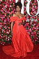 lauren ridloff condola rashad go glam in red for tony awards 2018 01