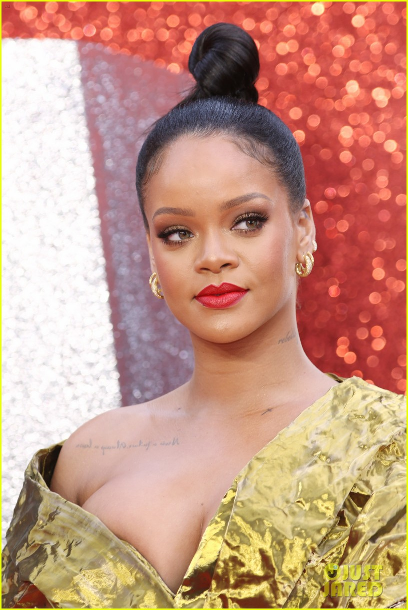 rihanna sparkles in gold at oceans 8 london premiere 094100919