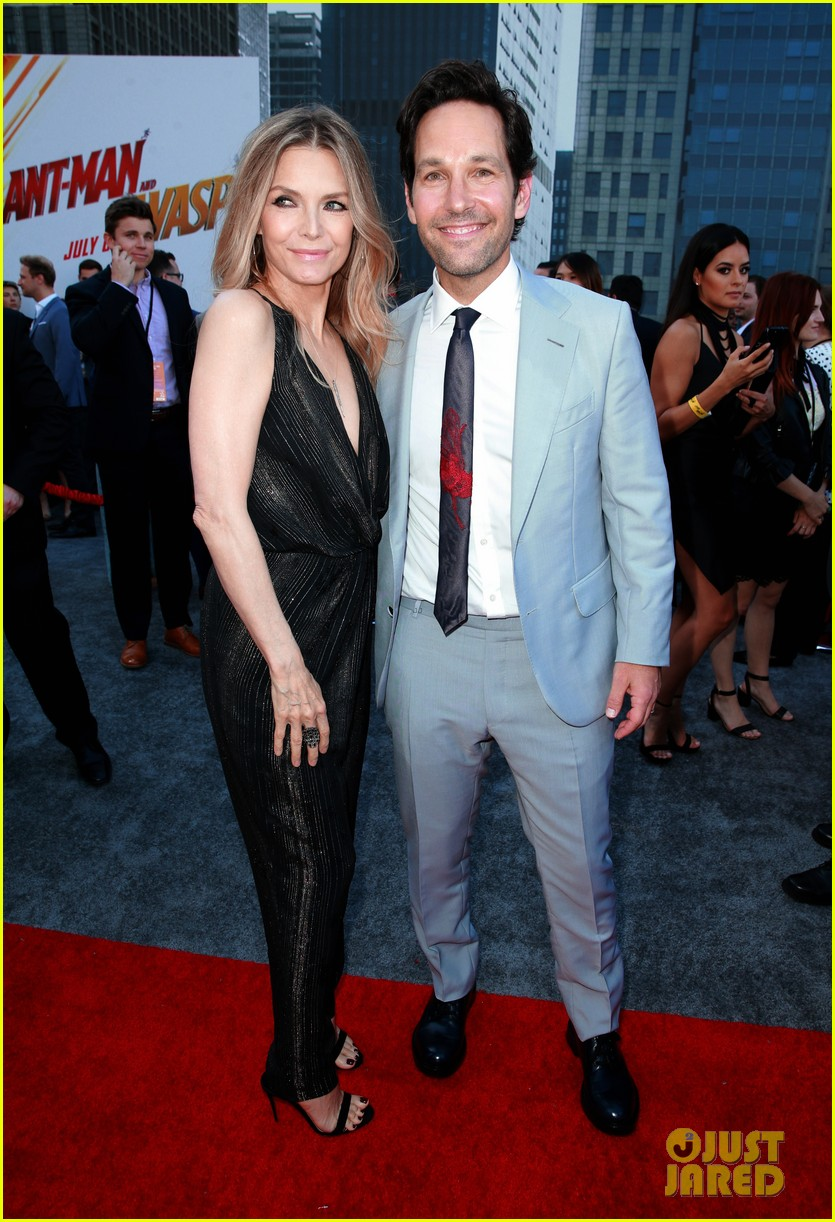 paul rudd evangeline lilly and michelle pfeiffer premiere ant man and the wasp 414107439