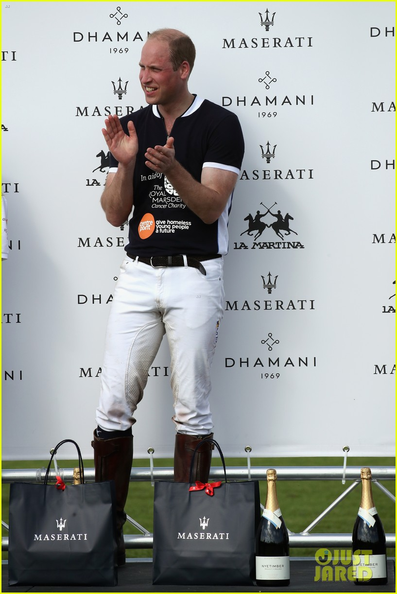 prince william plays polo family watches 014098631