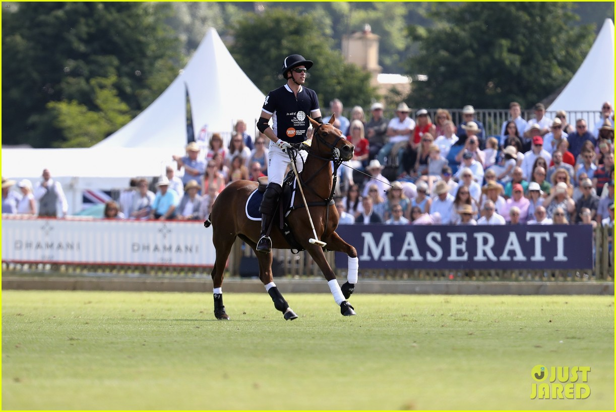 prince william plays polo family watches 034098633