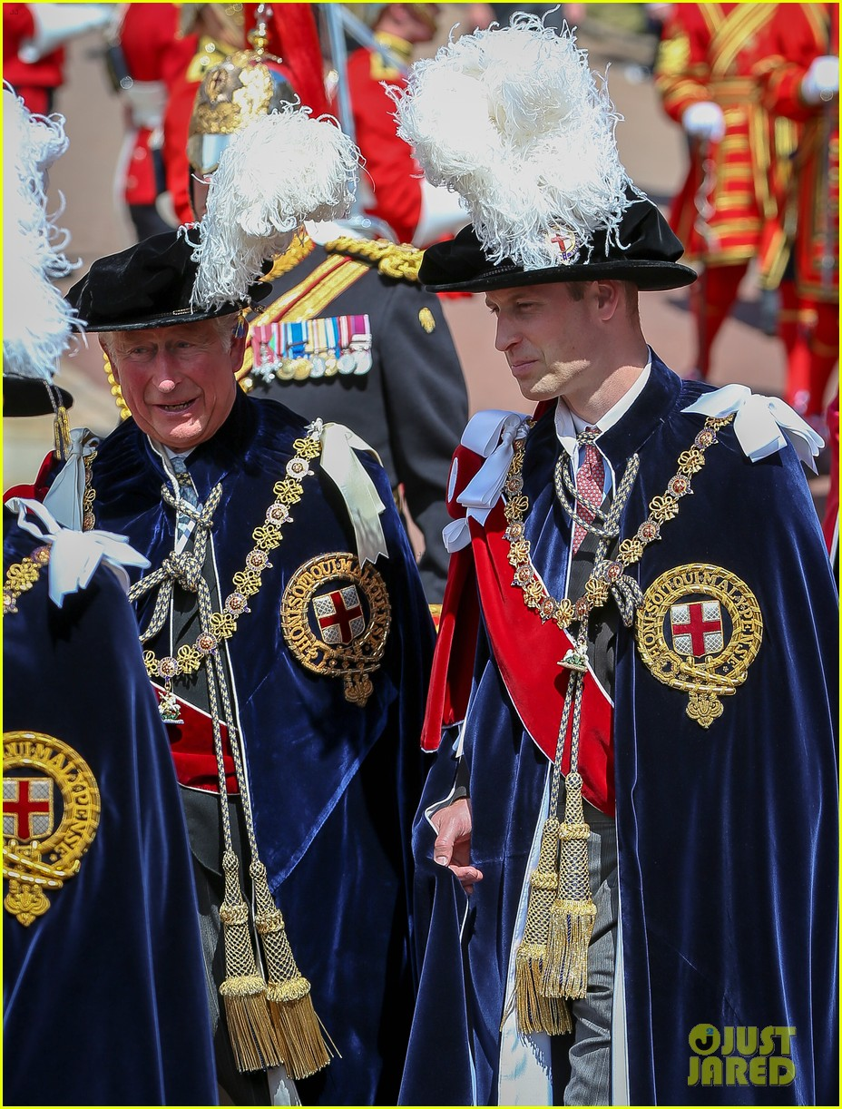 prince william joins prince charles at order of the garter parade 034103506