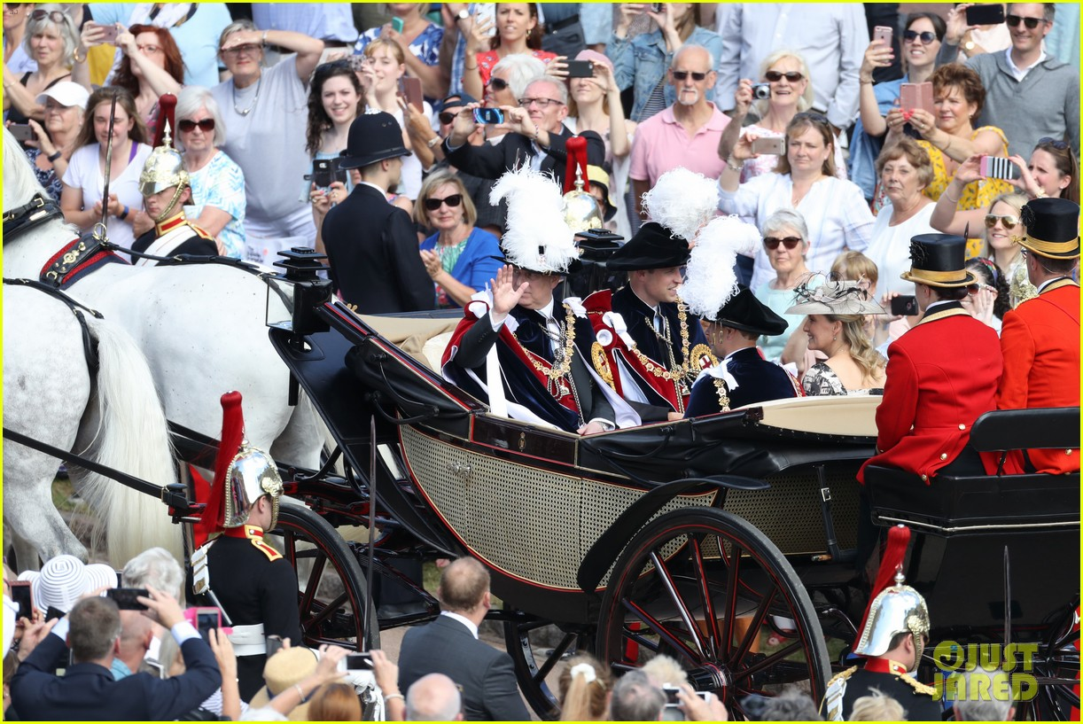 prince william joins prince charles at order of the garter parade 084103511