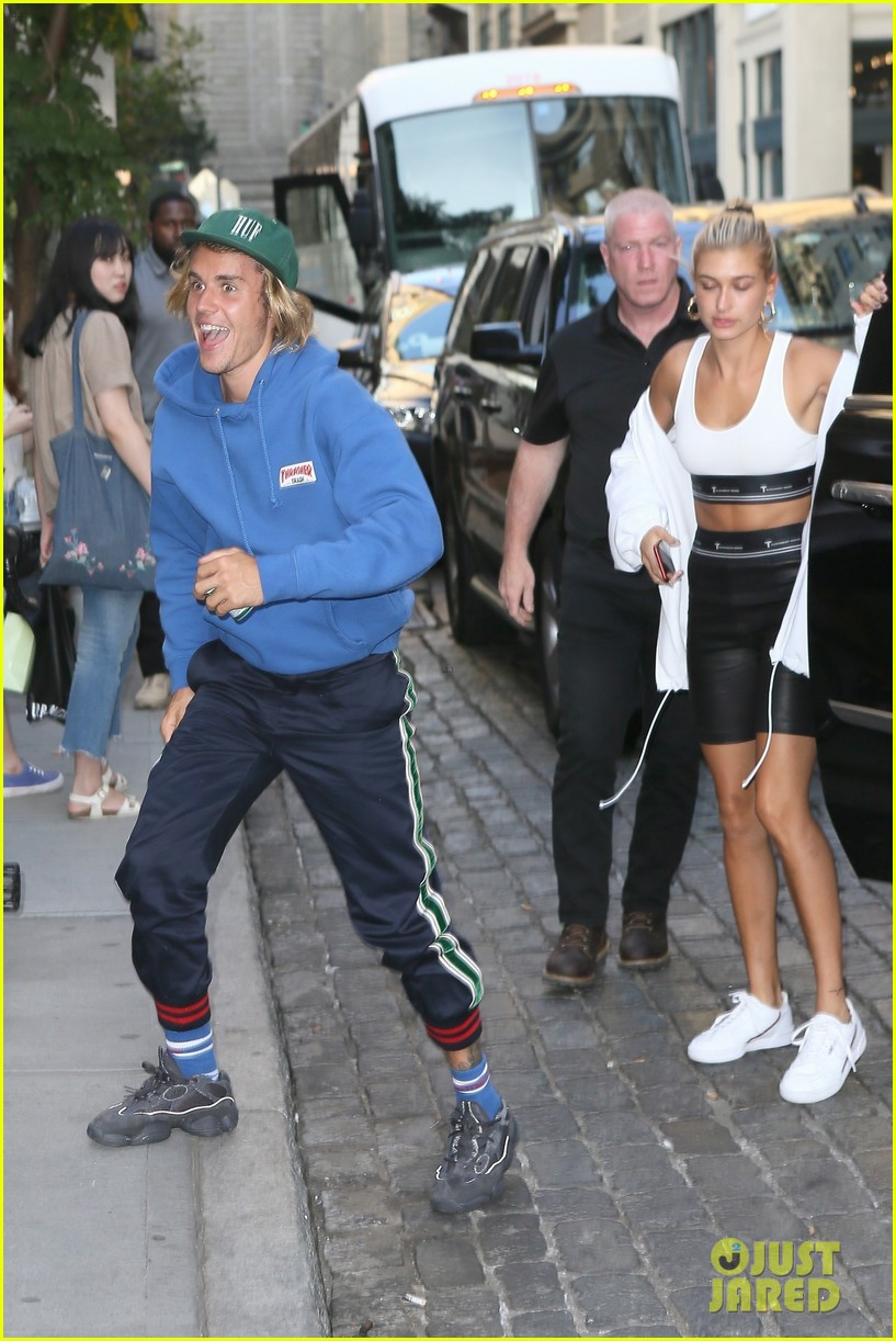 justin bieber hailey baldwin dinner new york 334113794