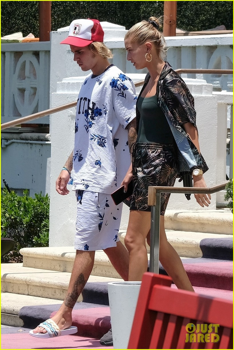 justin bieber shows off tattooed torso on vacation with hailey baldwin 394114523
