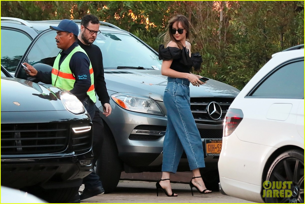 dakota johnson wears chic outfit for dinner in malibu 014112767