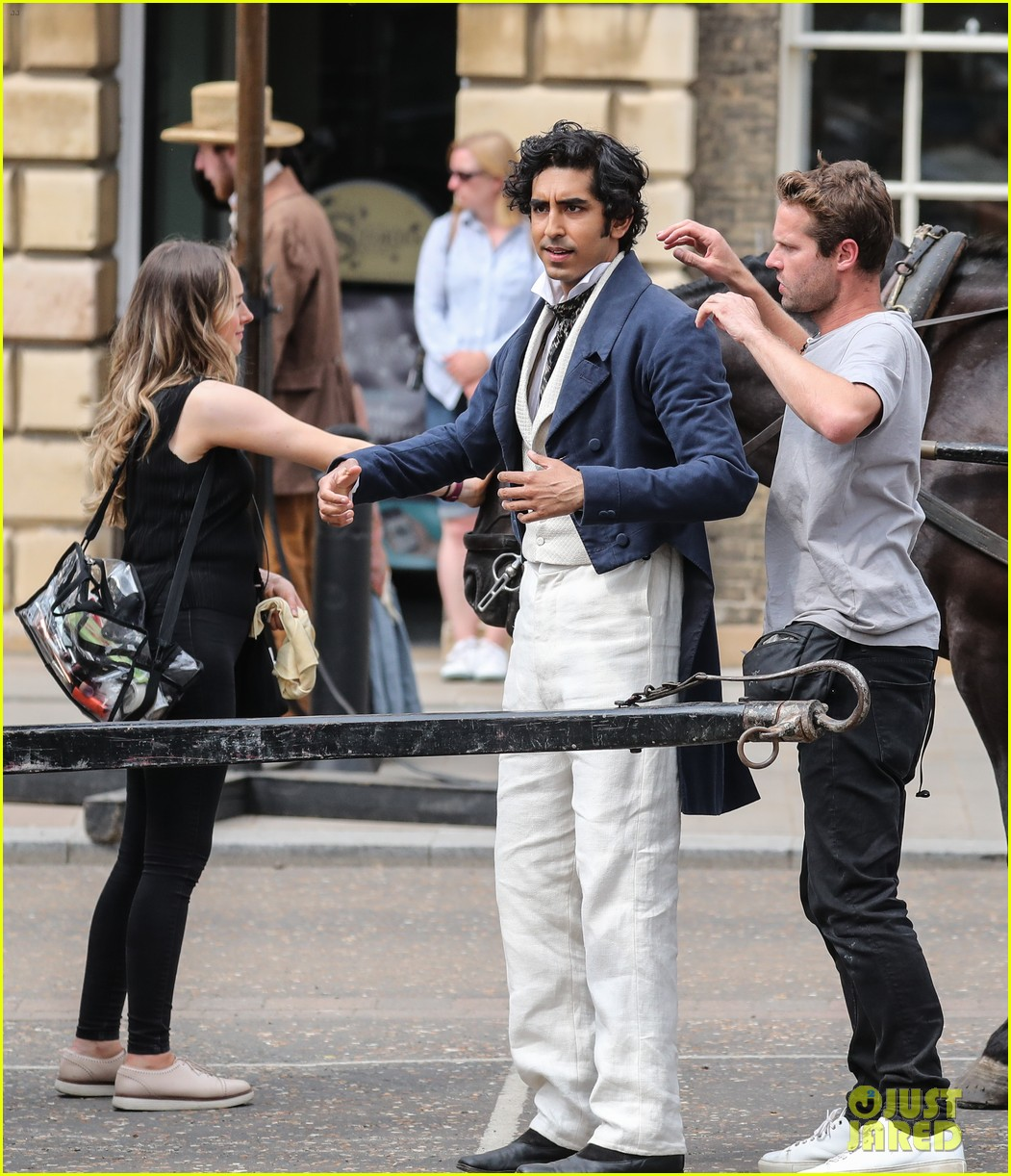 dev patel david copperfield filming set 01