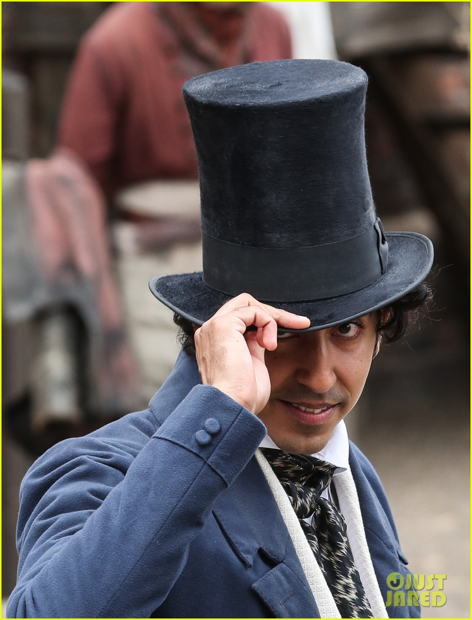 dev patel david copperfield filming set 03