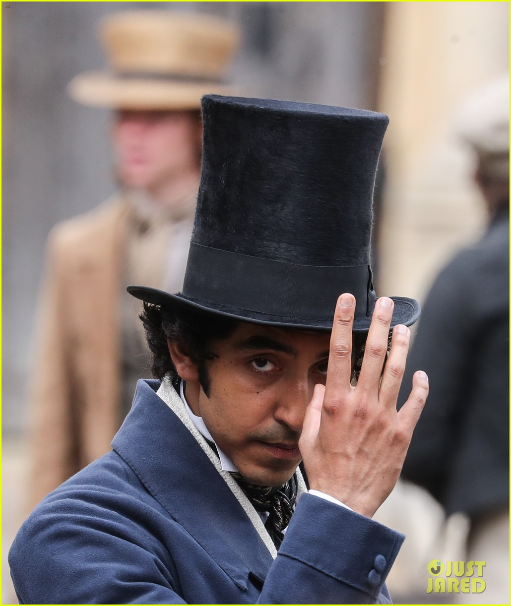 dev patel david copperfield filming set 14