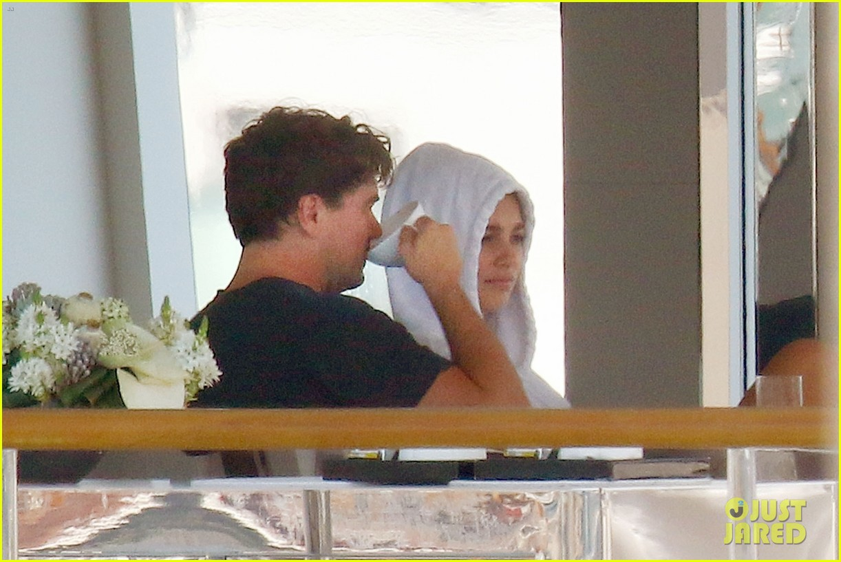 leonardo dicaprio relaxes on a yacht with camila morrone 104123194