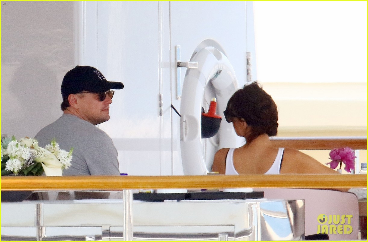 leonardo dicaprio relaxes on a yacht with camila morrone 274123211