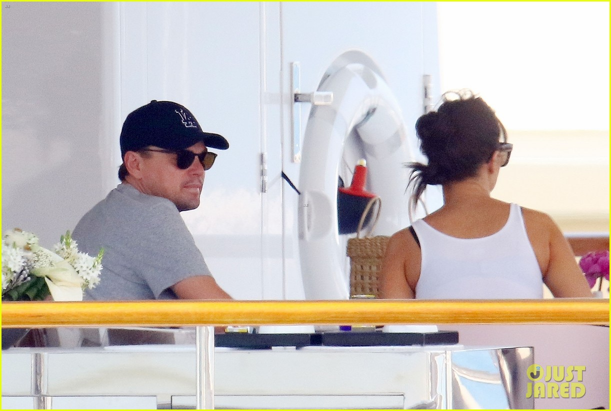 leonardo dicaprio relaxes on a yacht with camila morrone 394123223