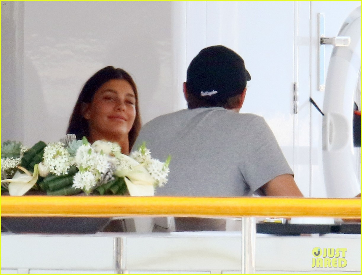 leonardo dicaprio relaxes on a yacht with camila morrone 524123236