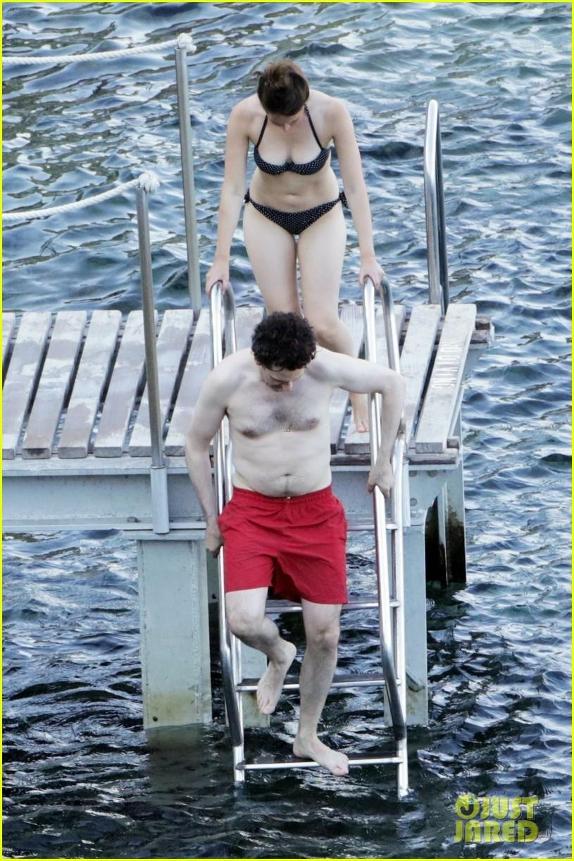 felicity jones charles guard hit the beach honeymoon 034114092
