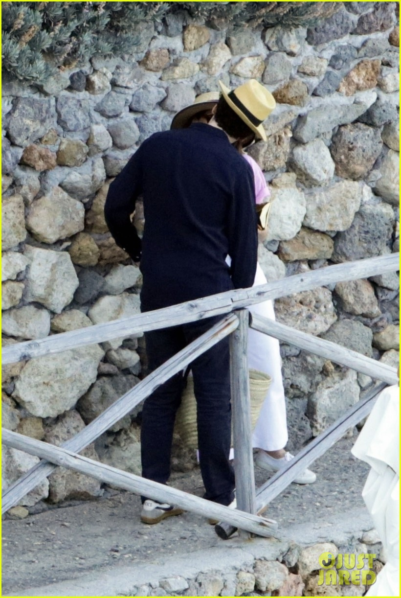 felicity jones charles guard hit the beach honeymoon 124114099