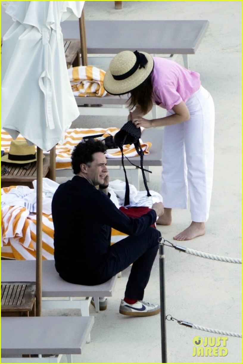 felicity jones charles guard hit the beach honeymoon 384114124
