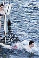 felicity jones charles guard hit the beach honeymoon 27