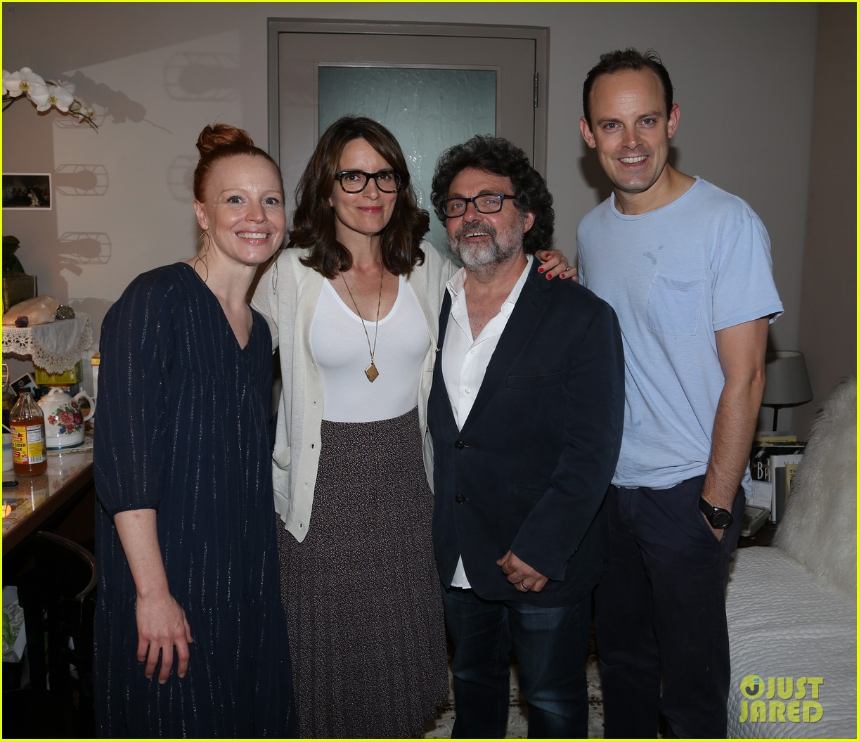 Pictures Of Tina Fey Jeff Richmond Anne Hathaway And: Tina Fey & Husband Jeff Richmond Visit Stars Of Broadway's