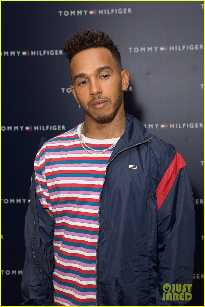 lewis hamilton hosts tommy hilfiger launch in london. Black Bedroom Furniture Sets. Home Design Ideas
