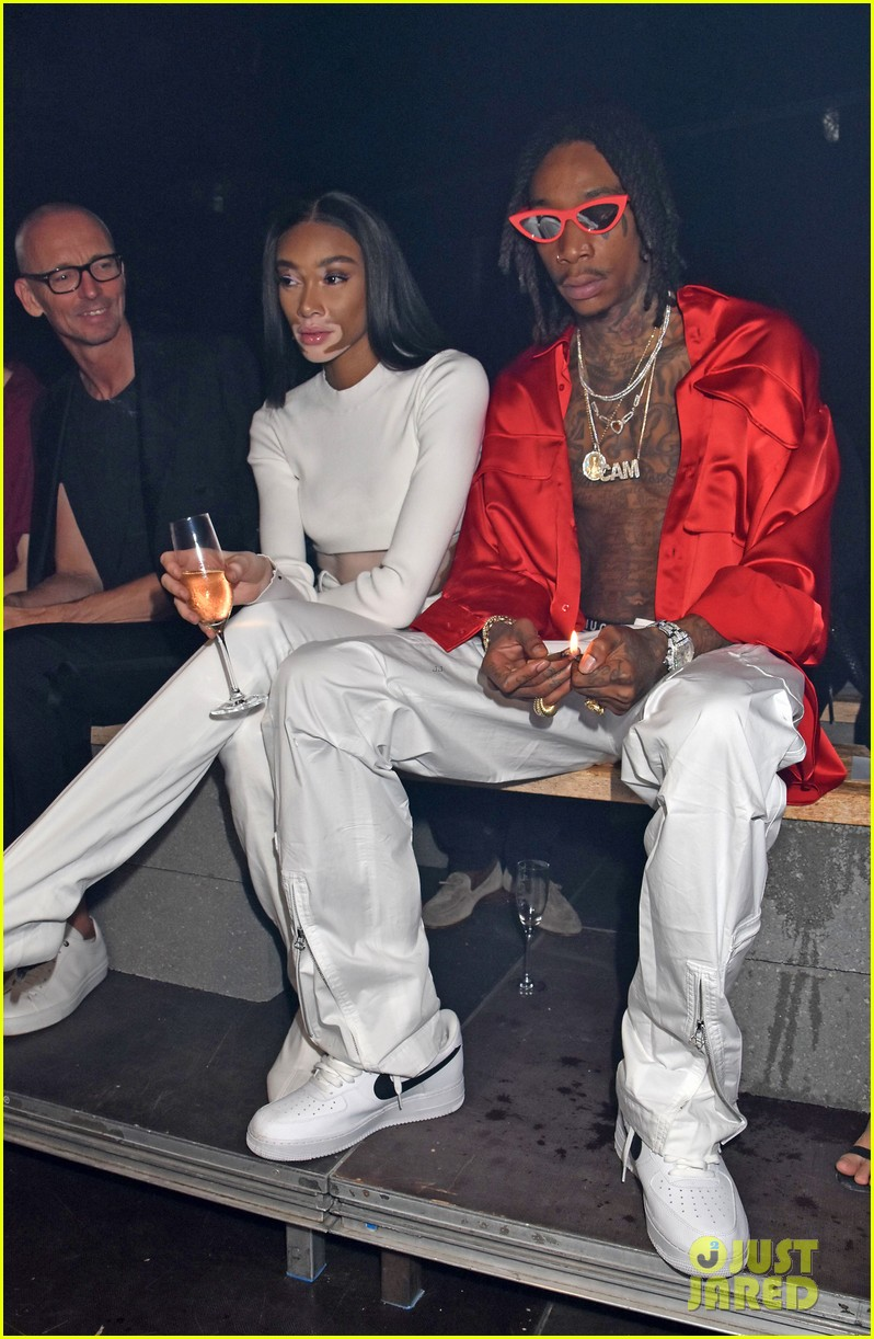 wiz khalifa winnie harlow buddy up at hugo springsummer fashion show 304111302