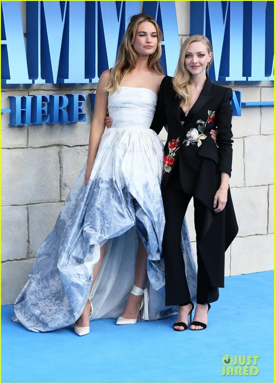 amanda seyfried lily james world premiere mamma mia here we go again in london 084115224