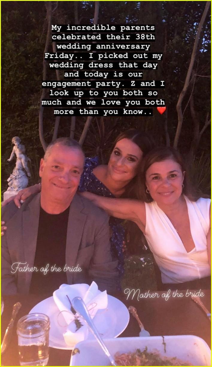 lea michele friends engagement party 054122335